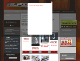 hargaknalpot.com screenshot