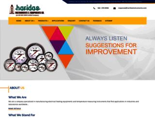 haridasinstruments.com screenshot