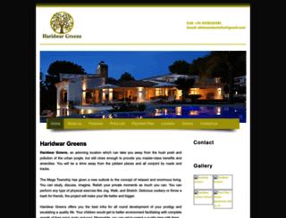 haridwargreens.propertywala.com screenshot