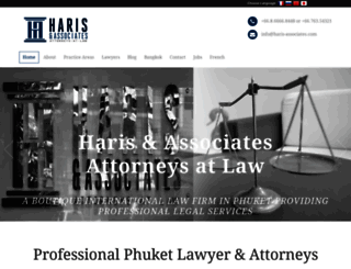 haris-associates.com screenshot