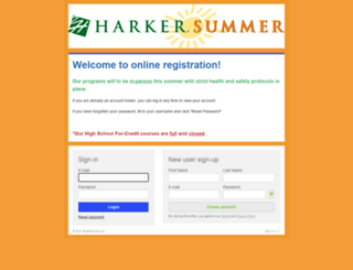 harkersummer.campbrainregistration.com screenshot