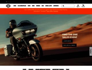 harley-davidson.com screenshot