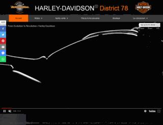 harleydistrict78.com screenshot