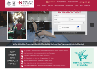 harleyshairtransplant.com screenshot