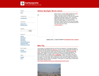 harleysports.wordpress.com screenshot