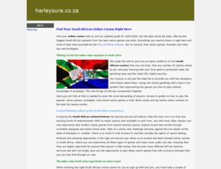 harleysure.co.za screenshot
