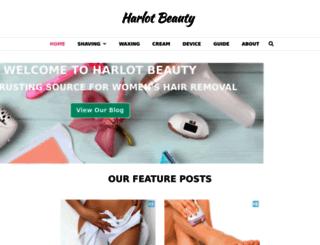 harlotbeauty.com screenshot