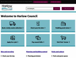 harlow.gov.uk screenshot