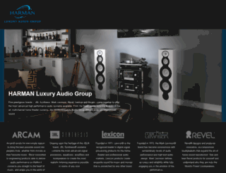 harmanluxuryaudio.com screenshot