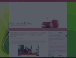 harmincasportal.cafeblog.hu screenshot
