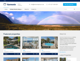 harmonieprop.co.za screenshot