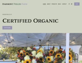 harmonyfieldsfarm.com screenshot