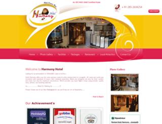 harmonyhotel.in screenshot