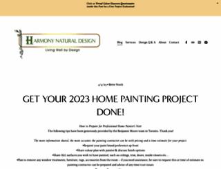 harmonynaturaldesign.com screenshot