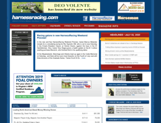 harnessracing.com screenshot