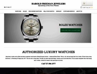 haroldfreemanjewelers.com screenshot