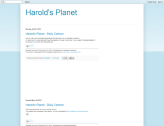 harolds-planet.blogspot.com screenshot