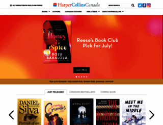 harpercollins.ca screenshot