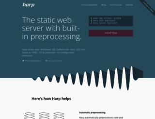 harpjs.com screenshot