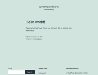 harpprogram.org screenshot