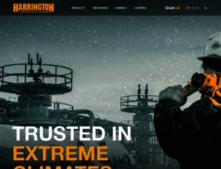 harringtonhoists.com screenshot