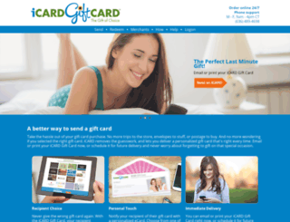harris.icardgiftcard.com screenshot