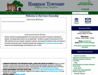 harrisontwp.com screenshot