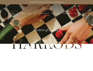 harrods.com screenshot