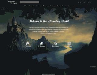 harry.hogwartsishere.com screenshot