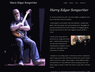 harryedgarsongwriter.co.uk screenshot