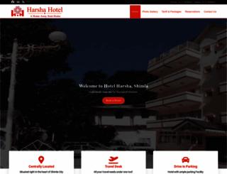 harshahotelshimla.com screenshot