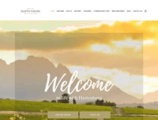 hartenbergestate.com screenshot