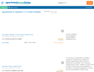 hartford.apartmenthomeliving.com screenshot