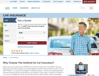 hartfordauto.thehartford.com screenshot