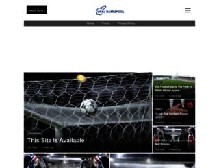 hartlepool.vitalfootball.co.uk screenshot