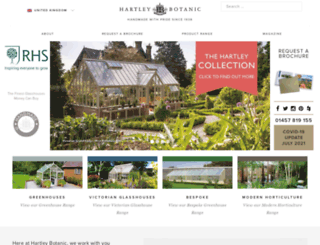hartley-botanic.co.uk screenshot
