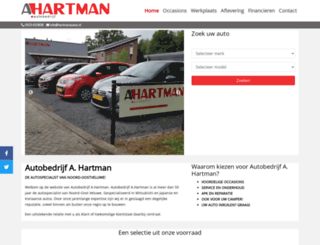hartmanautos.nl screenshot