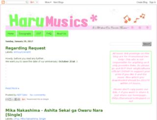 harumusics.blogspot.ca screenshot