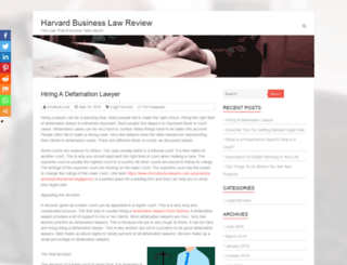 harvardbusinesslawreview.net screenshot