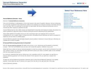harvardreferencegenerator.com screenshot