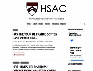 harvardsportsanalysis.org screenshot