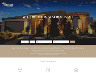 harvestrealestate.com.au screenshot