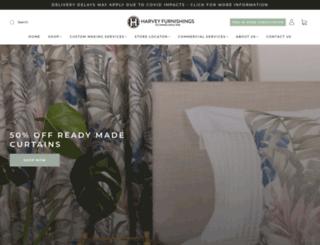 harveyfurnishings.co.nz screenshot