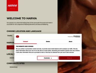 harvia.com screenshot