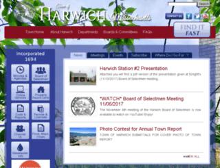 harwichma.virtualtownhall.net screenshot