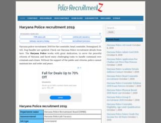 haryana.policerecruitments.in screenshot