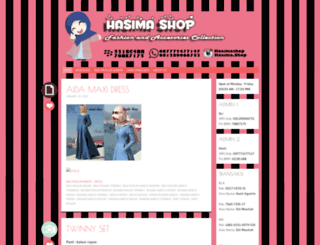 hasimashop.wordpress.com screenshot