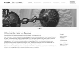 hasler-leu-casanova.ch screenshot