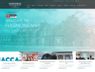 hasmonean.co.uk screenshot