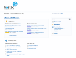 hastac.uservoice.com screenshot